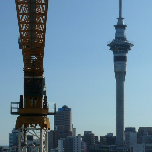 Auckland Crane on building project