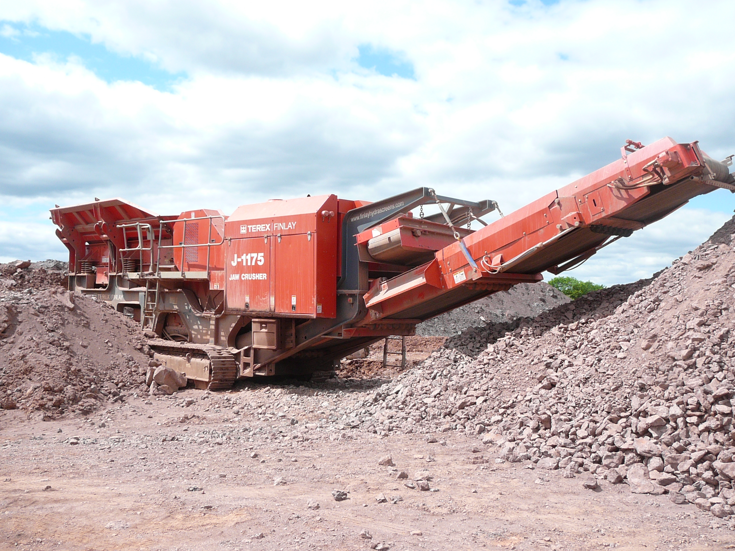 Rock Crusher onsite